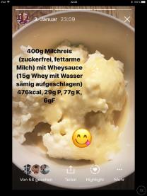 Milchreis mit Proteinsoße