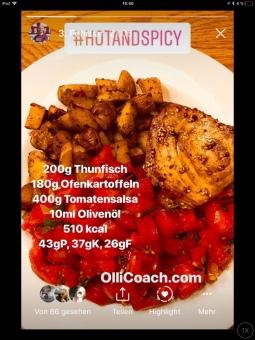 Thunfisch mit Tomatensalsa