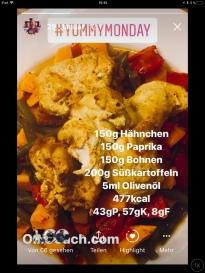 Hähnchen mit Ofengemüse und Süßkartoffeln